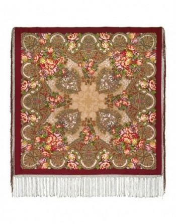 sal-esarfa-batic-din-lana-148x148cm-rusesc-original-pavlovo-posad-model-staryy-zamok-multicolor-pe-fundal-rosu