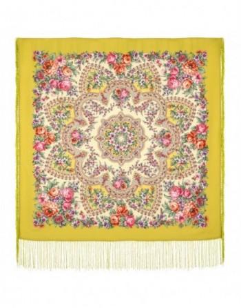 1874-10-batic-din-lana-89x89cm-original-pavlovo-posad-rusia-model-floral-vesenneye-probuzhdeniye-multicolor-pe-fundal-verde