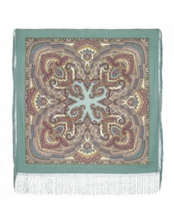 1290-3-sal-din-lana-148x148cm-original-pavlovo-posad-rusia-model-volshebnyy-uzor-pe-fundal-verde